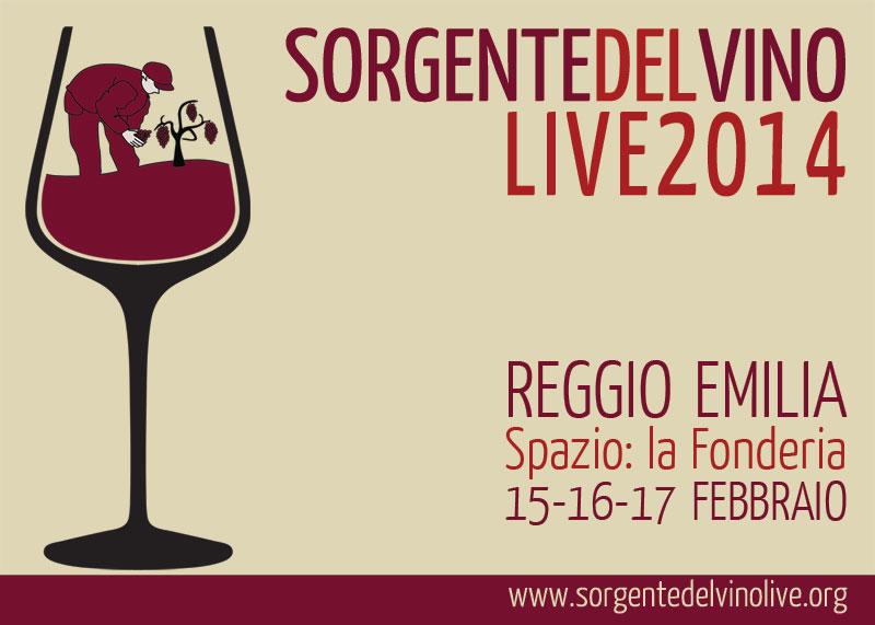 Cartolina Sorgentedelvino LIVE 2014 fronte